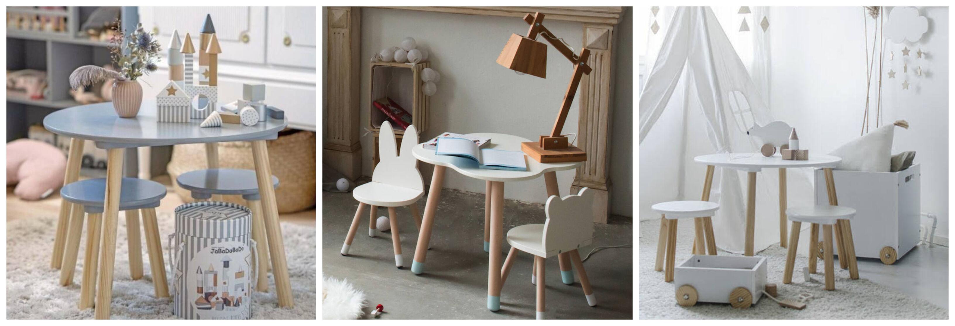 gyerekasztal és kis szék