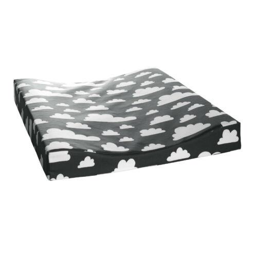 Fekete felhős pelenkázó matrac, Farg&Form