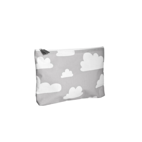 Szürke felhős zipzáros tároló / neszesszer, Farg&Form