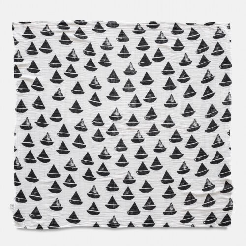 Fekete-fehér hajós vékony takaró, Fine Little Day