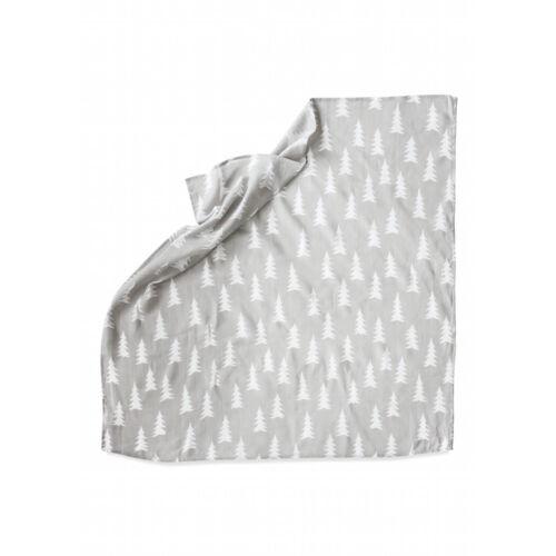 Szürke-fehér fenyőfás vékony takaró 82a877671f