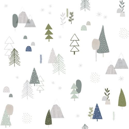 erdő mintás tapéta