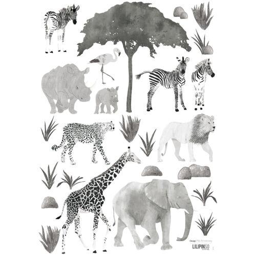 """Fekete-fehér vadon állatai"" falmatrica, Lilipinso"