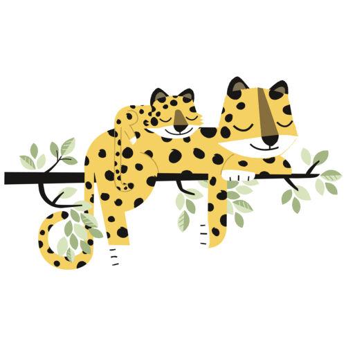 """""""Gepárd család"""" nagy méretű falmatrica, Lilipinso"""