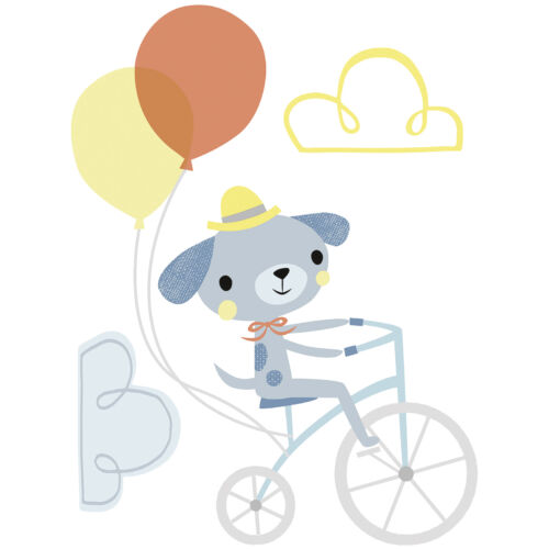 """Bicikliző kutya"" nagy méretű falmatrica, Lilipinso"