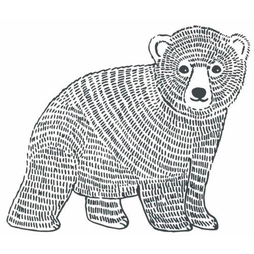 """""""Fekete-fehér medve"""" nagy méretű falmatrica, Lilipinso"""