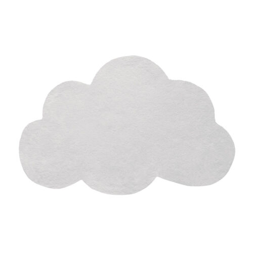 halvány szürke felhő alakú gyerekszőnyeg