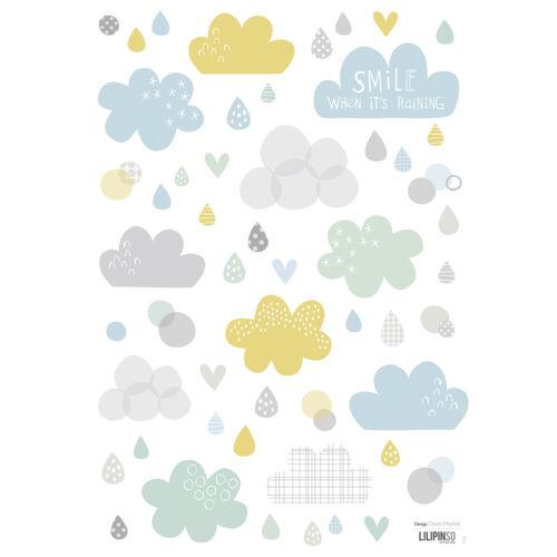 """Felhő és eső"" falmatrica, Lilipinso"