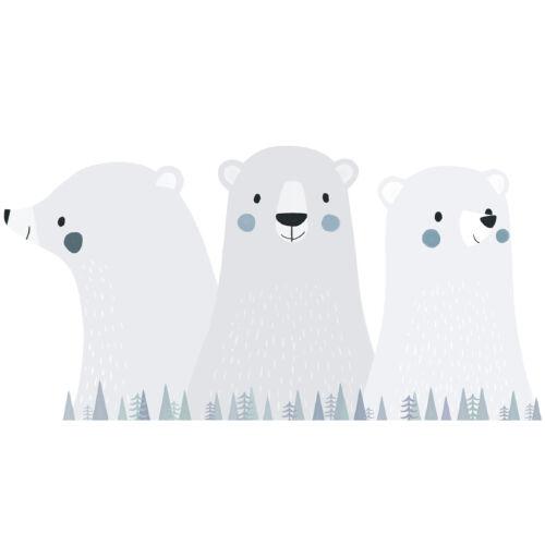 """""""Három jegesmedve"""" nagy méretű falmatrica, Lilipinso"""