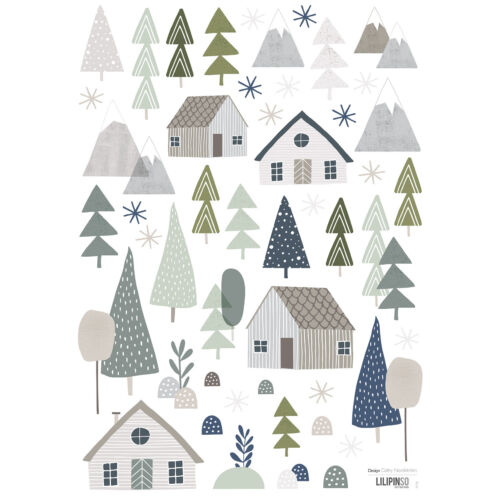 """""""Házak az erdőben"""" falmatrica, Lilipinso"""