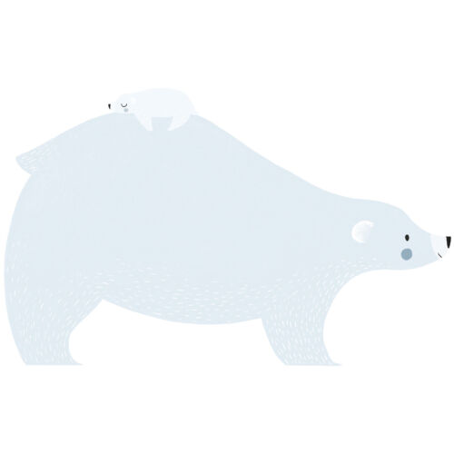 """""""Jegesmedve a kicsinyével"""" nagy méretű falmatrica, Lilipinso"""