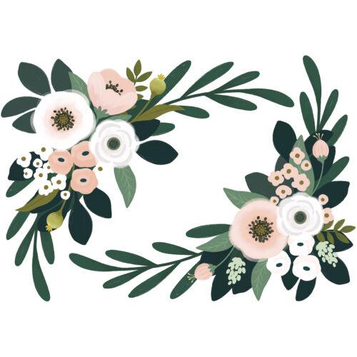 """""""Óriás virágok"""" nagy méretű falmatrica, Lilipinso"""