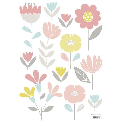 """""""Pasztell virágok"""" falmatrica, Lilipinso"""
