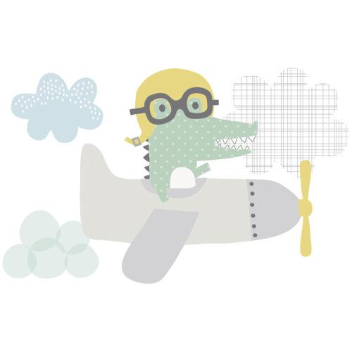 """""""Repülő krokodil"""" nagy méretű falmatrica, Lilipinso"""