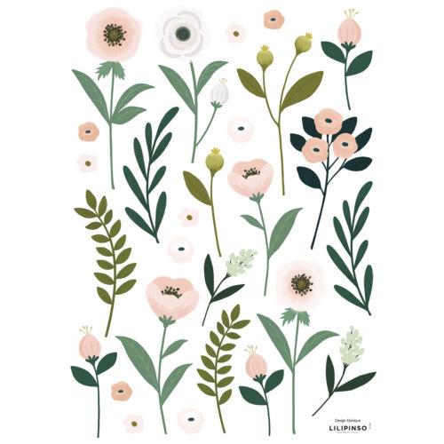 """""""Virágok és levelek"""" falmatrica, Lilipinso"""