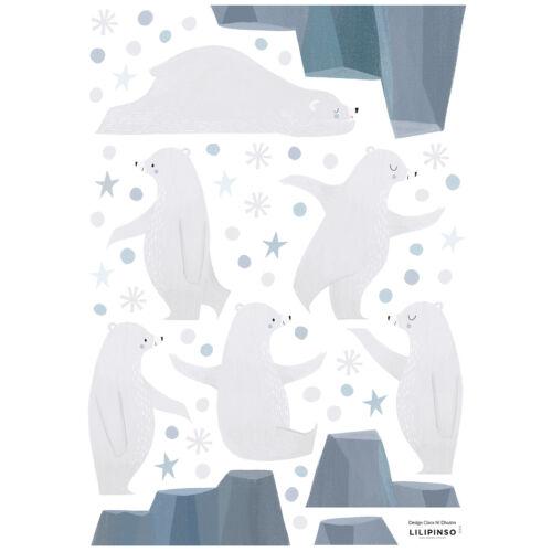 """""""Zsonglőr jegesmedvék"""" falmatrica, Lilipinso"""