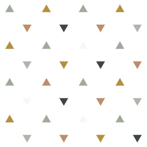 Háromszög mintás tapéta gyerekszobába (földszínek), Lilipinso