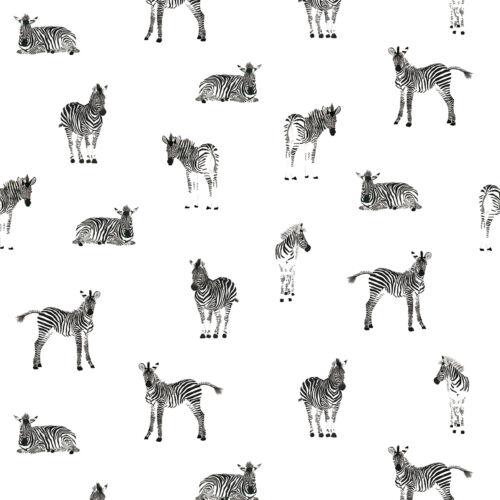 Fekete - fehér zebrás tapéta gyerekszobába, Lilipinso