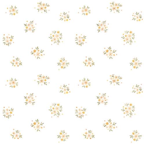 Retró virágos tapéta gyerekszobába, Lilipinso