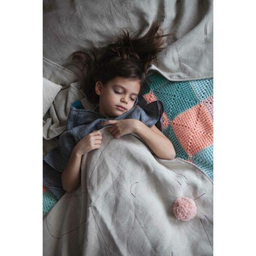 Kender állatos takaró, lila nyuszi (RokkaDesign)