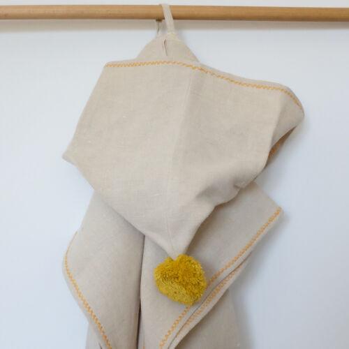 Kender kapucnis poncsó, natúr-sárga (RokkaDesign)