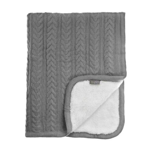 Kötött vastag wellsoft takaró (Cuddly), beton szürke, Vinter&Bloom