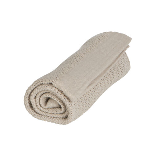 Organikus kötött takaró (vékony), homok színű (Vinter&Bloom)