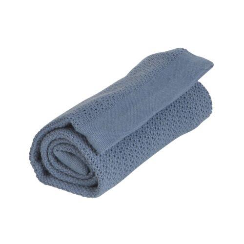 Organikus kötött takaró (vékony), indigó kék (Vinter&Bloom)