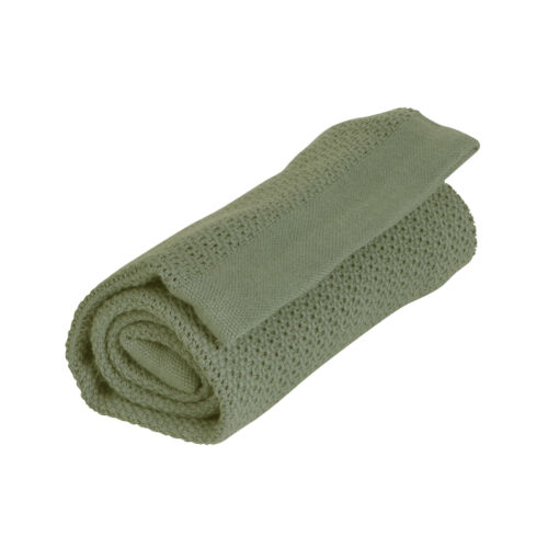 Organikus kötött takaró (vékony), sötét zöld (Vinter&Bloom)