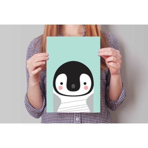 Pingvines poszter (2 db A/4-es kép), debaba KRAFT