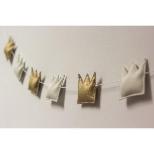Arany-fehér koronás girland