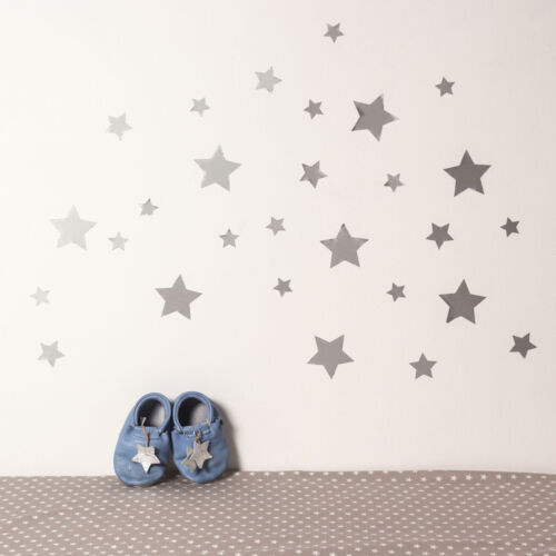 Ezüst csillagos falmatricák
