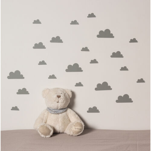 Szürke felhős falmatricák
