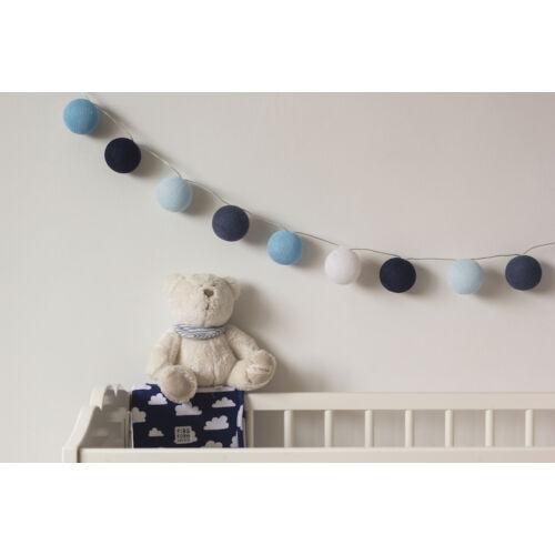 Csupa kék gömblámpa füzér (Cotton Ball Lights)