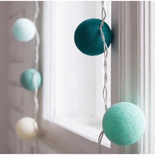 Csupa menta gömblámpa füzér (Cotton Ball Lights)
