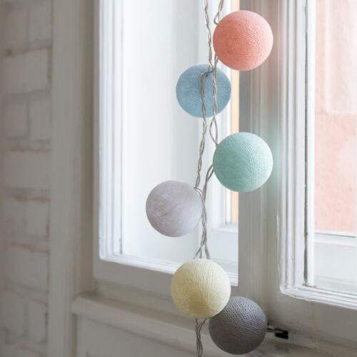 Pasztell cukorka gömblámpa füzér (Cotton Ball Lights)