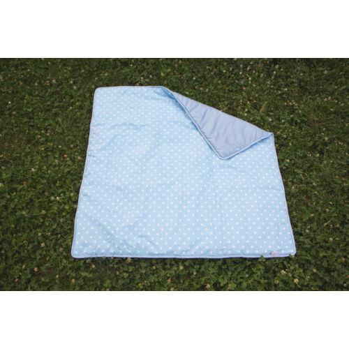 Kék csillagos 3 az 1-ben útravaló takaró + hátizsák
