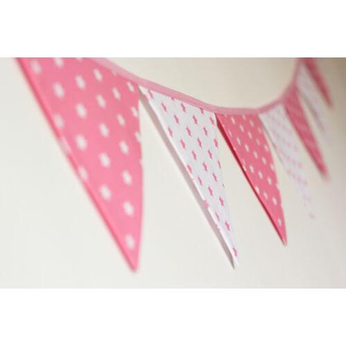Pink csillagos zászló girland, Little Stars