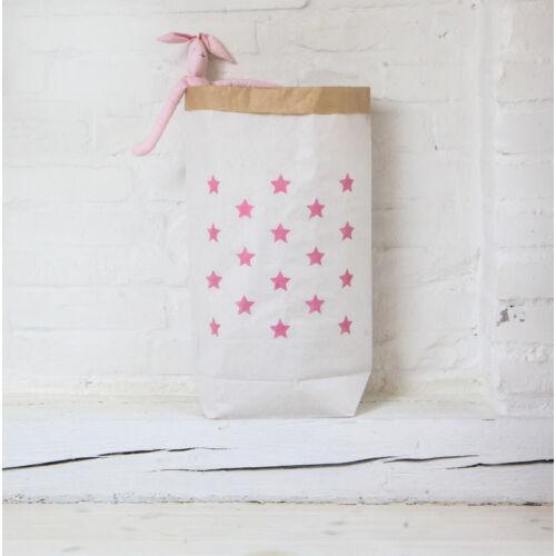 Pink csillagos papírzsák, Little Stars