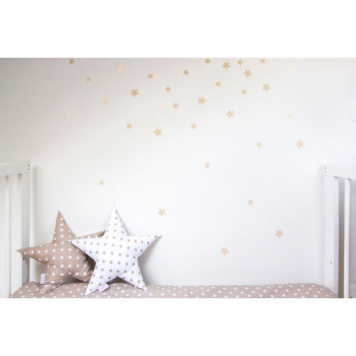 Bézs csillagos falmatricák, Little Stars