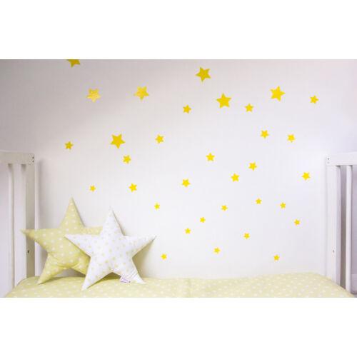 Sárga csillagos falmatricák, többféle méretben, Little Stars