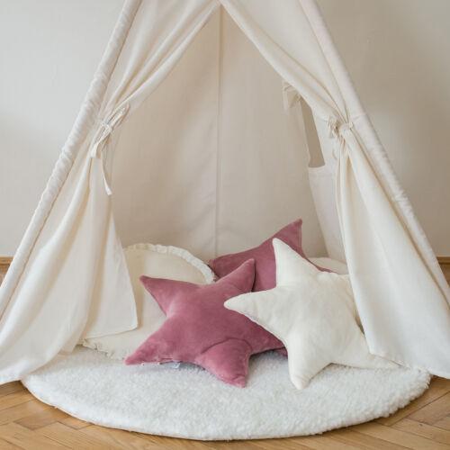 Fehér játékszőrmés kör szőnyeg, (babyberry)