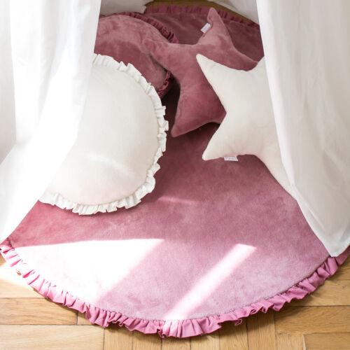 Mályva fodros kör szőnyeg, (babyberry)