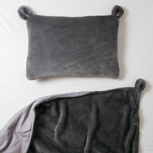 Szürke fülecskés alvó párna, (babyberry)