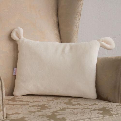 Fehér fülecskés alvó párna, (babyberry)