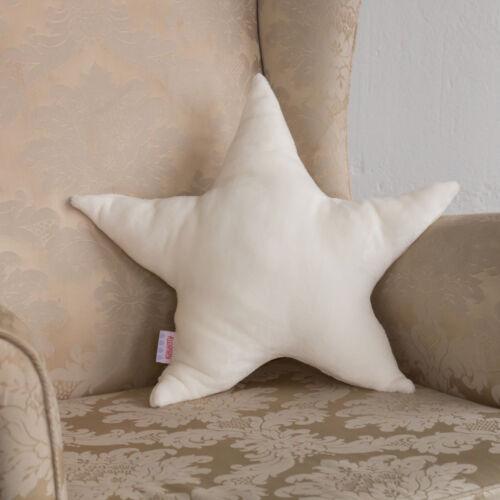 Fehér plüss csillag párna, (babyberry)