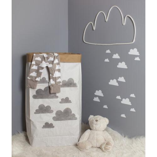 Szürke felhős papírzsák
