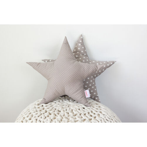 Szürke csillag alakú díszpárna, Pastel Baby