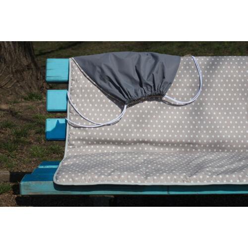 Szürke csillagos 3 az 1-ben útravaló takaró + hátizsák