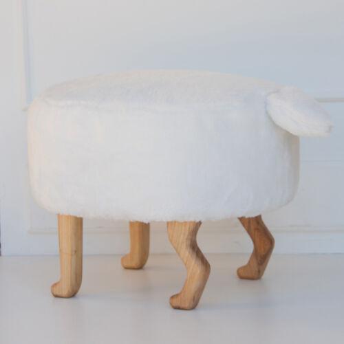 Szőrmés puff, fehér (Siller baby)